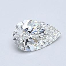 0.70-Carat Pear Diamond Very Good F VVS2