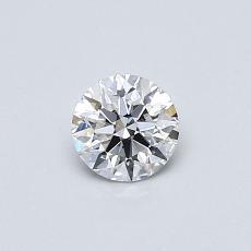 0.40-Carat Round Diamond Ideal F VVS2