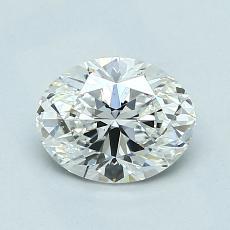 1,01 Carat Ovalado Diamond Muy buena G VS1
