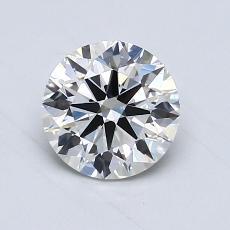 0.90-Carat Round Diamond Ideal G VVS2