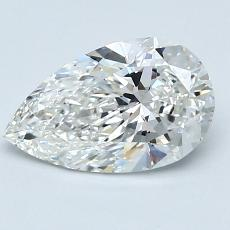 1.24-Carat Pear Diamond Very Good G VS2