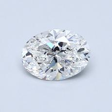 0.70 Carat 椭圆形 Diamond 非常好 E VVS1