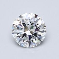 1.00 Carat 圆形 Diamond 理想 E SI1