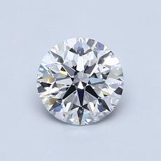 0.80-Carat Round Diamond Ideal E VVS2
