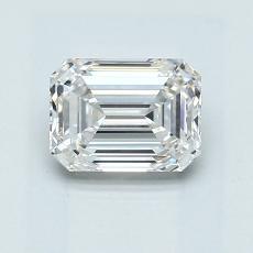 1.01-Carat Emerald Diamond Very Good G VVS2