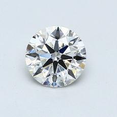 0,60-Carat Round Diamond Ideal I VS1