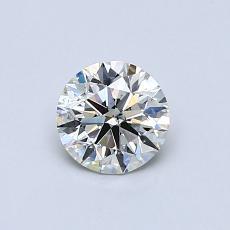0.54 Carat 圓形 Diamond 理想 K SI1