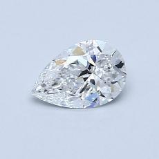 0.50 Carat 梨形 Diamond 非常好 D VS1