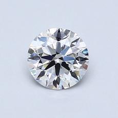 0.70 Carat 圓形 Diamond 理想 D VVS2