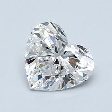 1,03-Carat Heart Diamond Very Good D IF