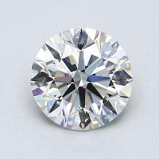 1.05-Carat Round Diamond Ideal H IF