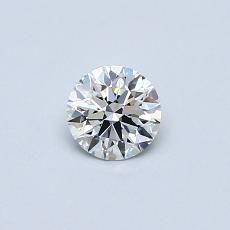 0.33-Carat Round Diamond Ideal F VS1