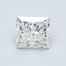 0.91-Carat Princess Diamond Very Good H VVS2