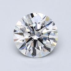 1.25 Carat ラウンド Diamond アイデアル F VS2