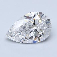 1.20-Carat Pear Diamond Very Good D VVS1