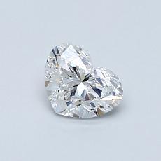 0.51-Carat Heart Diamond Very Good D VVS1