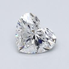1.03-Carat Heart Diamond Very Good D IF