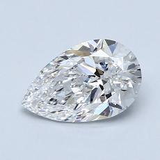 1.00-Carat Pear Diamond Very Good D VS2