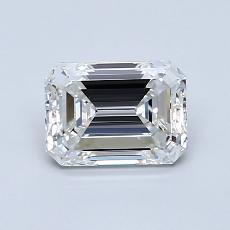 1.01-Carat Emerald Diamond Very Good F VVS2