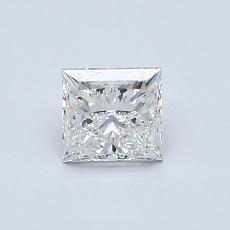 0.70-Carat Princess Diamond Very Good F VVS2