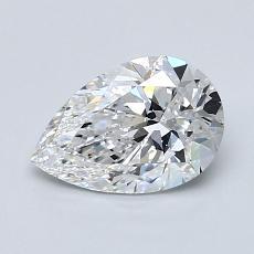 1.00-Carat Pear Diamond Very Good D VS1