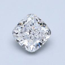 1.00-Carat Cushion Diamond Very Good D VVS1