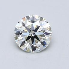 0,80-Carat Round Diamond Ideal K VVS1