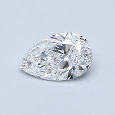 0.56 Carat Pera Diamond Muy buena D VVS2