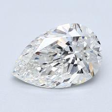 Piedra recomendada 2: Diamante en forma de pera de1.70 quilates