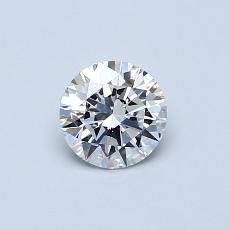 0.51-Carat Round Diamond Ideal E VVS2