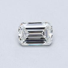 0.37-Carat Emerald Diamond Very Good F VVS1