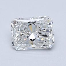 1.00-Carat Radiant Diamond Very Good E VVS2