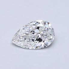Piedra objetivo: Diamante en forma de pera de0.51 quilates