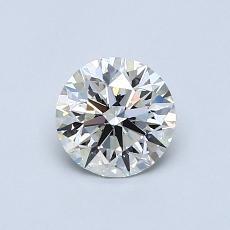0.70-Carat Round Diamond Ideal I VS1