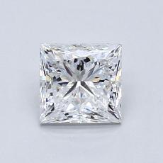 1.01 Carat 公主方形 Diamond 非常好 E VS2