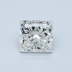 0.80 Carat 公主方形 Diamond 非常好 G VVS2
