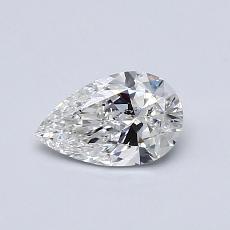 0.50 Carat 梨形 Diamond 非常好 G SI2