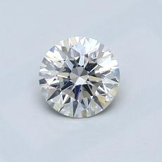 0,61-Carat Round Diamond Ideal H SI1