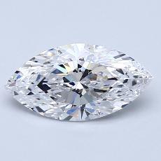 目标宝石:1.51 克拉马眼形钻石