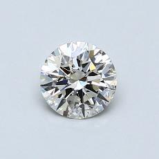 0.50 Carat Redondo Diamond Ideal J SI2