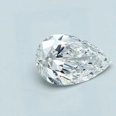 Pierre recommandée n°2: Diamant taille poire 1,01carats