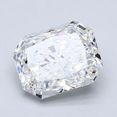 1.51-Carat Radiant Diamond Very Good D VVS1