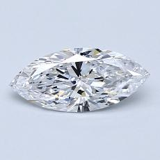 0,61-Carat Marquise Diamond Very Good D IF