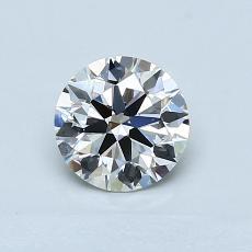 0.76 Carat 圓形 Diamond 理想 G VVS1