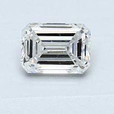 0.70-Carat Emerald Diamond Very Good G SI1