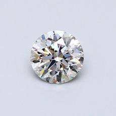 0.50 Carat 圆形 Diamond 理想 I SI1