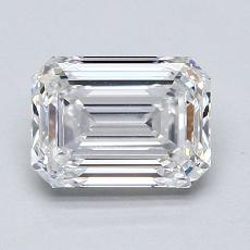 1.51-Carat Emerald Diamond Very Good E VVS2