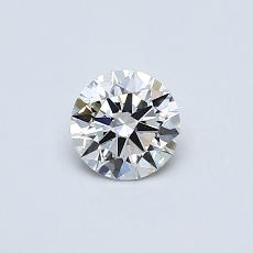 0,40-Carat Round Diamond Ideal I VVS1