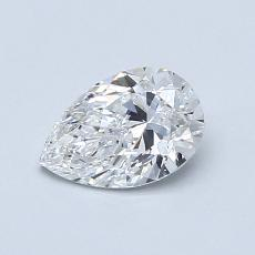 0.70-Carat Pear Diamond Very Good E VVS1