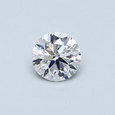 0,40-Carat Round Diamond Very Good E SI1